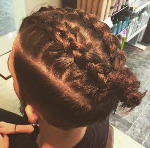 French Braided Man Bun