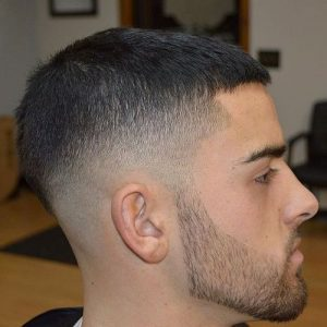 Short Caesar With Mid Fade
