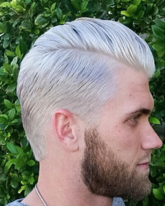 Slicked Back Platinum Look