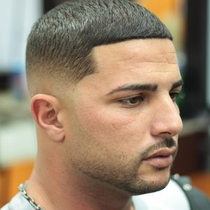 short Caesar with fade