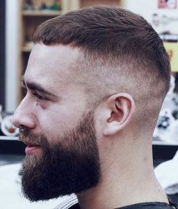 tight caesar with high undercut