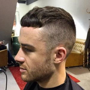 wavy casear with high undercut