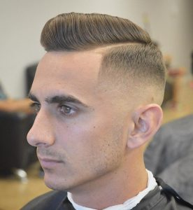 vintage hard part haircut