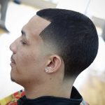 Buzz Cut With Temple Fade