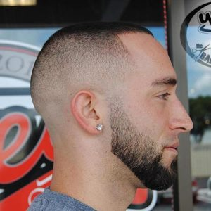 high and tight skin fade with fringe