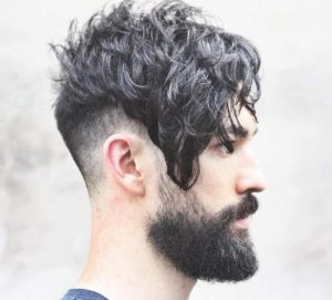 Long Top Curls With Fade