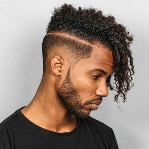 Long curls with low fade
