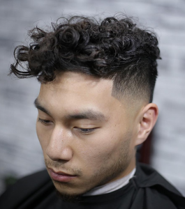 curls with fade line up