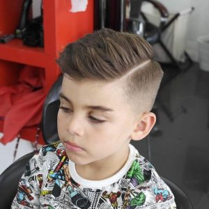 Side Part With Skin Fade
