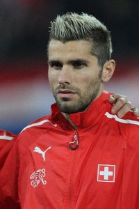 blonde spiked haircut valon behrami
