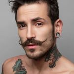 handlebar with soul patch