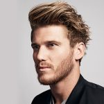 messy pomade hairstyle
