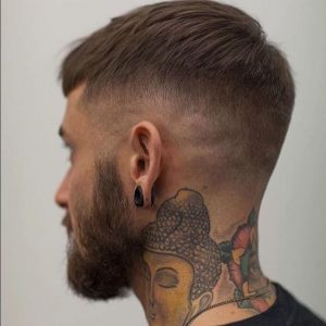 crop with tapered undercut