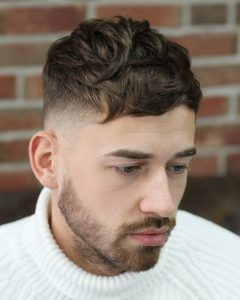 taper fade with soft texture