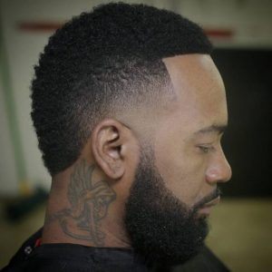 taper fade short afro