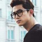 Korean Hairstyles for Men – Preppy Quiff with Highlights