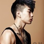 Mens Korean Hairstyles – Faux Hawk with Shaved Sides