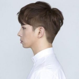 Cool Two-Block Korean Mens Hairstyle