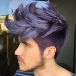 Punk Hairstyles for Men – Spiked Lilac Hair