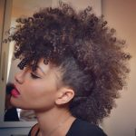 Punk Hairstyles for Women – Faux Mohawk in Afro Hair