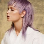Punk Hairstyles for Women – Lavender Hair with Statement Bangs