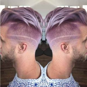 lavender haircut design men