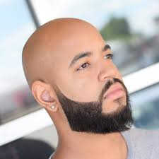 bald haircut fade beard