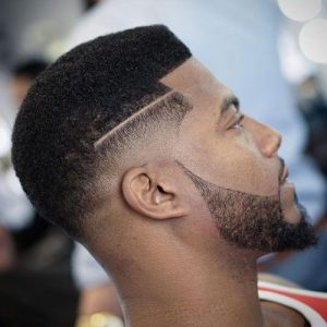 drop fade with beard