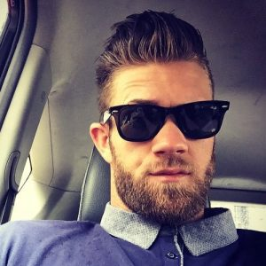 high quiff style with beard