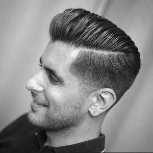 Hard Part Pompadour Haircut
