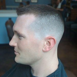 Short Crew Cut With Fade