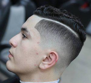 hard part haircut for wavy hair