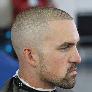 Burr Cut With Skin Fade
