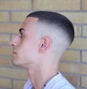 High Fade With Straight Fringe