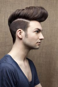 Sculpted quiff with disconnected undercut