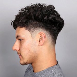 curls on top drop fade