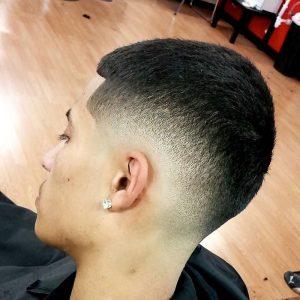 drop faded buzz cut