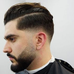parted drop fade style
