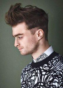 quiff style with side fringe undercut