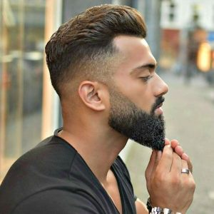 tapered sculpted beard