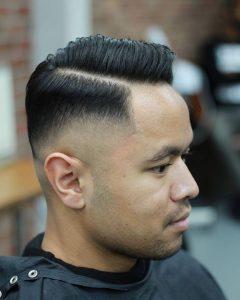 vintage hard part haircut