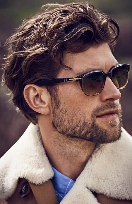 Medium Length Long Curly Hairstyles Men 35