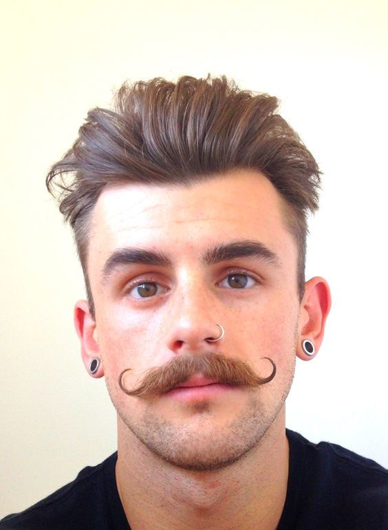 Styles for young men mustache 15+ New