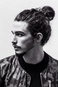 long curls bun