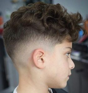 Low Fade Curly Cut