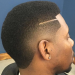 low fade south of france with razor line