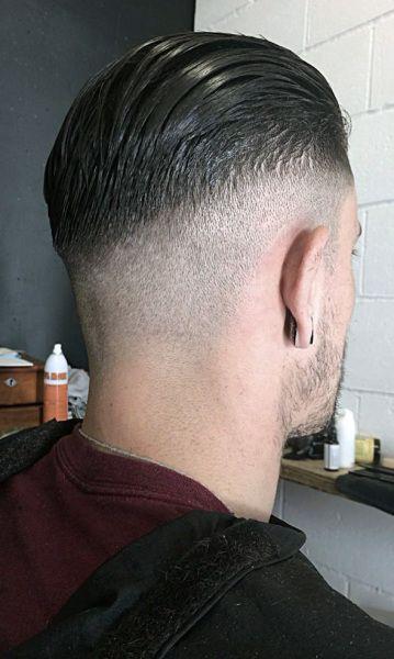 brushed forward taper cut