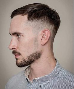 soft comb over with drop fade