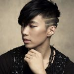 Mens Korean Hairstyles – Asymmetric Bangs and Deep Tramlines