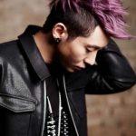 Mens Korean Hairstyles – Extreme Undercut wih Purple Spikes